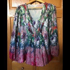 Sundance Silk Floral Blouse